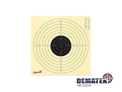 Alvo Oficial CBTE para Pistola e Carabina de Ar 10M 17x17 (milheiro)