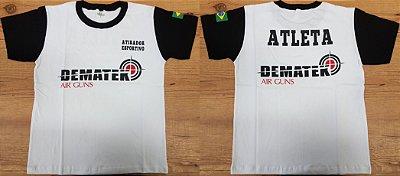 Camiseta Atirador Esportivo Branca - Dematek Airguns
