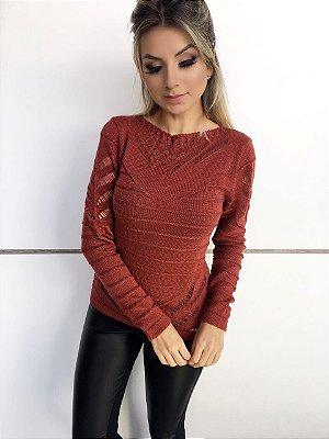 BLUSA FEMININA DECOTE CANOA