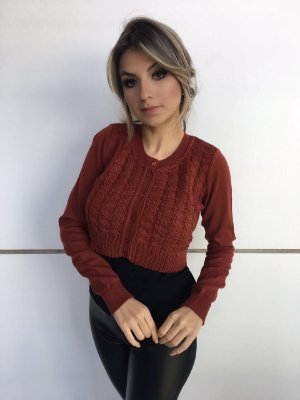 BOLERO FEMININO COM BOTÕES