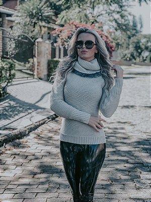 BLUSÃO FEMININO GROSSO SOBRELEGGING COM PÊLO NA GOLA
