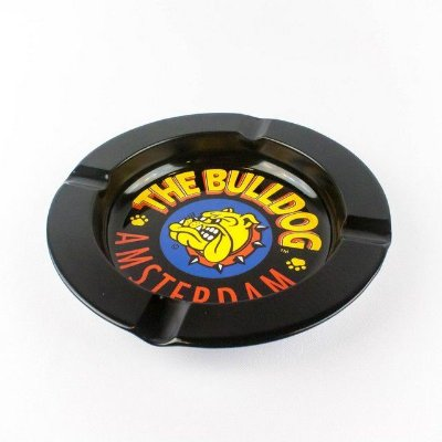 Cinzeiro de Metal Preto The Bulldog
