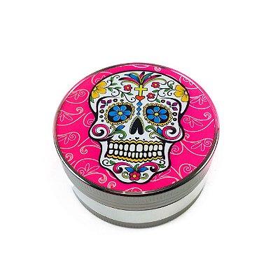 Triturador de Metal Rosa Caveira Mexicana