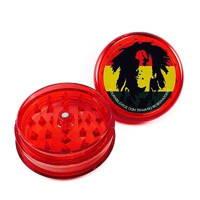 Triturador de Acrílico Bob Marley Vermelho