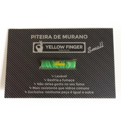 Piteira Murano Small Verde Yellow Finger
