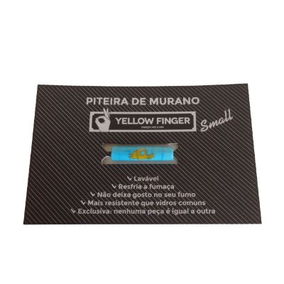 Piteira Murano Small Azul Claro Yellow Finger