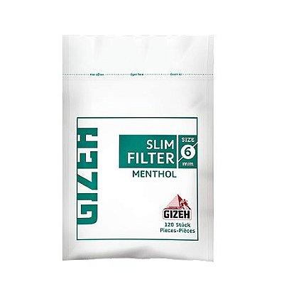 Filtro de Algodão Slim Mentolado GIZEH