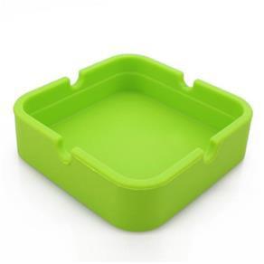 Cinzeiro de Silicone Quadrado Verde