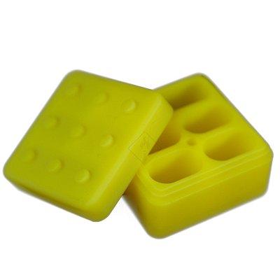 Pote de Silicone com 5 Divisórias Amarelo