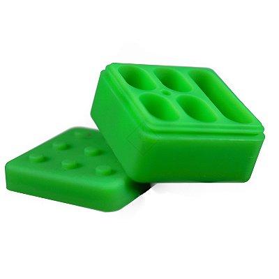 Pote de Silicone com 5 Divisórias Verde