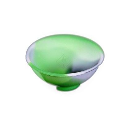 Cuia de Silicone Verde, Preto e Branco