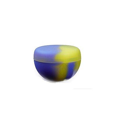 Silicone Oil Slick Metade Redondo Amarelo e Azul