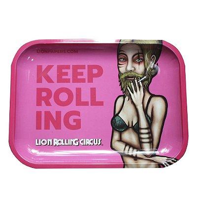 Bandeja Rosa Grande Lion Rolling Circus