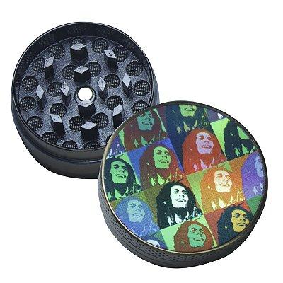 Triturador de Metal Pequeno Colorido Bob Marley