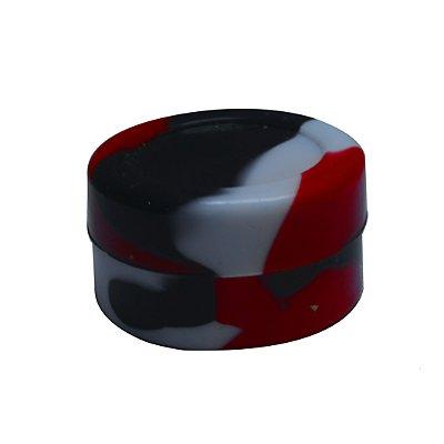 Silicone Oil Slick Vermelho, Preto e Branco