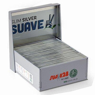Caixa de Metal com Seda King Size Silver Suave