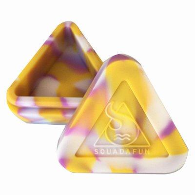 Pote de Silicone Triângulo Banco, Amarelo e Rosa Squadafum