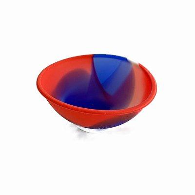 Cuia de Silicone Azul, Vermelho e Branco