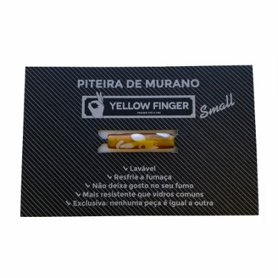 Piteira Murano Small Bege e Branco Yellow Finger