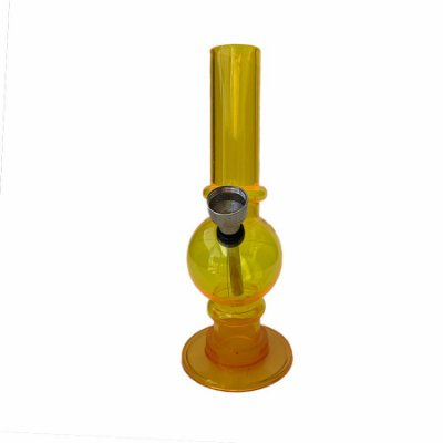 Bong Acrílico 15cm Amarelo