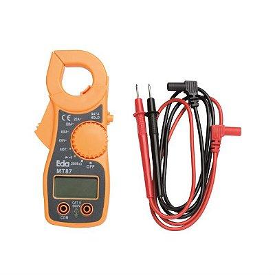 Alicate Amperímetro Digital Teste Diodo E Continuidade Ac/dc  - Eda