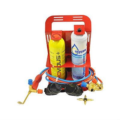 Maçarico Portátil Oxigênio Acetileno Corte E Solda Turbo Set