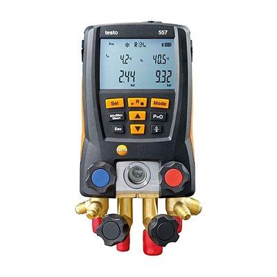 Testo 557 - Kit Manifold Digital p/ Med. de Pressão em Sist. de Refrigeração c/ BT incl. Maleta e 3 sondas