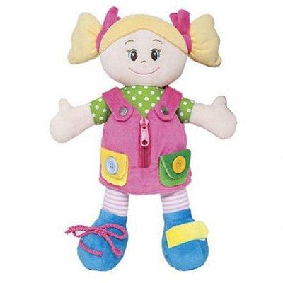 Boneca de Pano Aprendendo a Vestir Lila