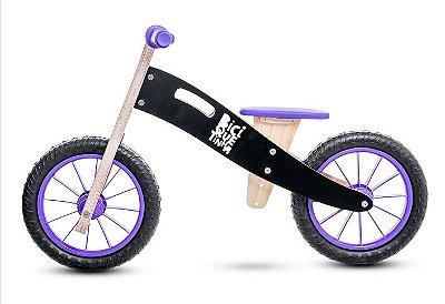 Bicicleta de Equilíbrio Sem Pedal - Cor Lousa Roxa