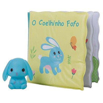 Kit Livrinho de Banho com Miniatura - O Coelhinho Fofo