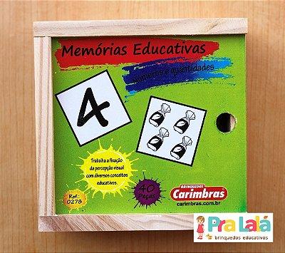 Jogo da Memória Números e Quantidades