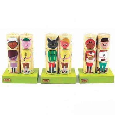 Coleção Monte & Brinque - Cilindros Personagens Clássicos