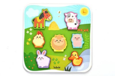 Quebra-Cabeça de Encaixe Animais da Fazenda