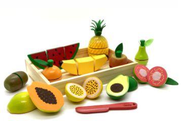 Coleção Comidinhas - Kit Completo Frutas com Corte (11 peças)