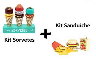 Kit Comidinhas - Sanduíche + Sorvete