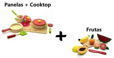 Kit Comidinhas - Frutas + Panelinhas
