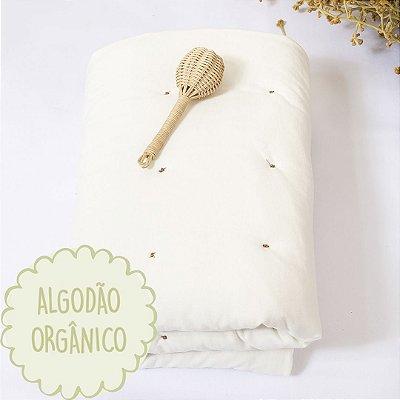 Edredom moises algodão orgânico off white