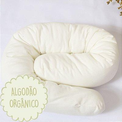 Minhoquita para moises algodão orgânico off white