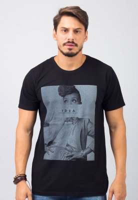 Camiseta Gola Tradicional Preta Idea
