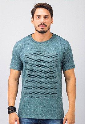 Camiseta Gola Tradicional Azul Paus