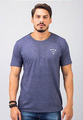 Camiseta Gola Tradicional Azul Marinho Busted Triangle