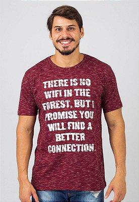 Camiseta Gola Tradicional Vinho Connection