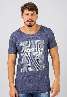 Camiseta Gola Canoa Azul Busted Deu Onda