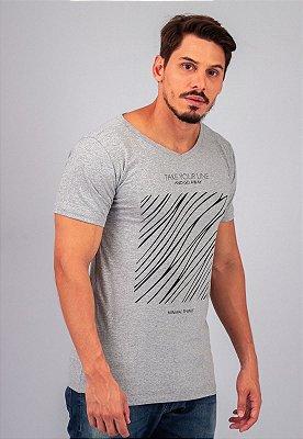 Camiseta Gola V Mescla Square Lines