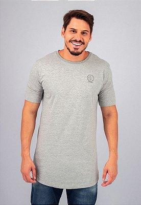 Camiseta Gola Tradicional Longline Mescla Stay Determined
