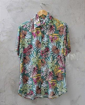Camisa de Botão Verde Summer