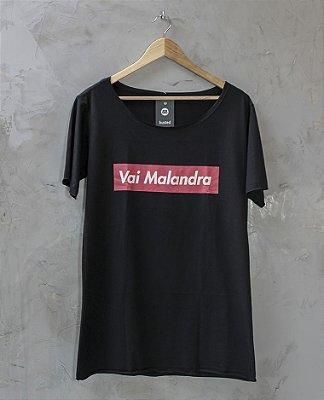 Camiseta Gola Canoa Preta Vai Malandra
