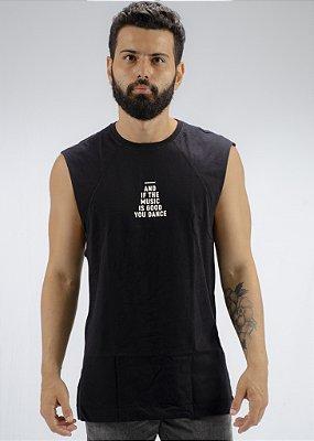Camiseta Regata Machão Preta Eyes