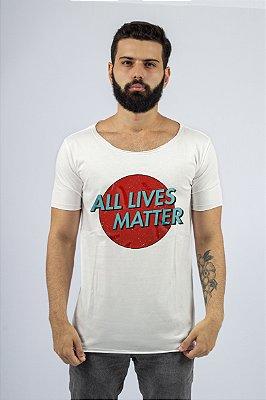 Camiseta Gola Redonda a Fio Branca All Lives Metter