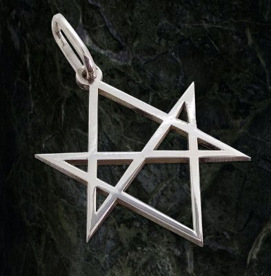 Pingente Hexagrama Unicursal Liso